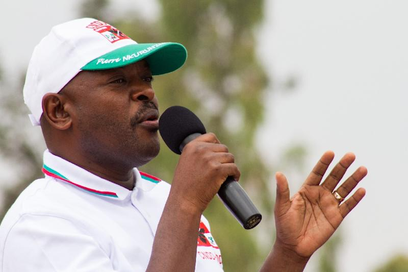 Nkurunziza won a highly-controversial third term in July in polls boycotted by the opposition and denounced by the United Nations as neither free nor fair (AFP Photo/Landry Nshimiye)