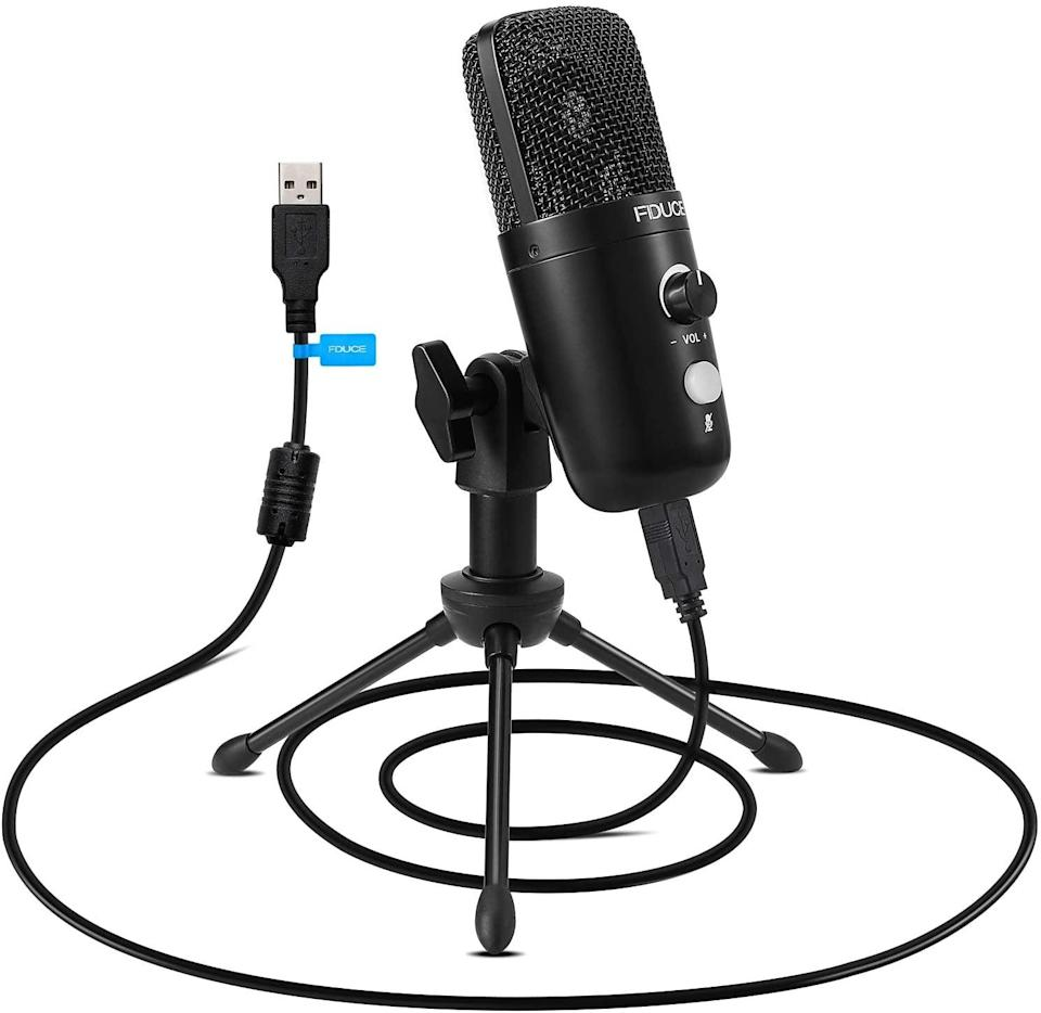 <p>If your sound is always breaking up, go for this <span>USB Plug&amp;Play Condenser Microphone</span> ($37).</p>