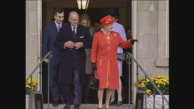 Prince Philip and Queen Elizabeth visit Fredericton in 2002.