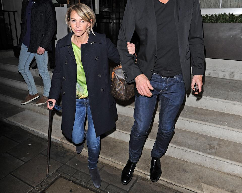 Leslie Ash had to learn to walk again after an infection damaged her spine. (Getty Images)