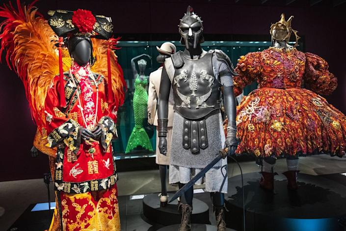 """Costumes in the """"Identity"""" gallery."""