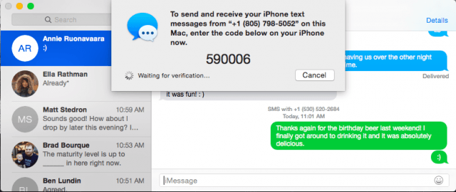 Sending iPhone messages via PC
