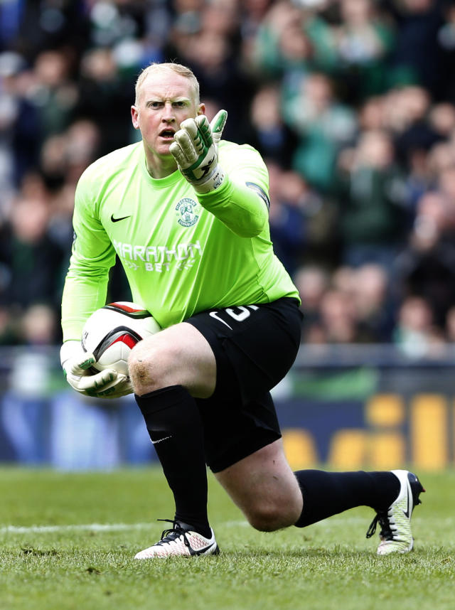 Football Soccer - Hibernian v Dundee United - William Hill Scottish Cup Semi Final - Hampden Park, Glasgow, Scotland - 16/4/16 Hibernian's Conrad Logan Action Images via Reuters / Russell Cheyne Livepic EDITORIAL USE ONLY.