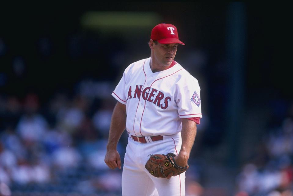John Wetteland, who is in the Texas Rangers Hall of Fame, was arrested Monday on a charge of child sex abuse. (Getty Images)