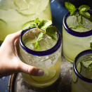 "<p>This refreshing cucumber-lime flavored cocktail is a great choice for warm summer evenings. You can easily make it a mocktail by substituting lime-flavored sparkling water for the tequila. <a href=""http://www.eatingwell.com/recipe/266589/cucumber-lime-mexican-mojitos/"" rel=""nofollow noopener"" target=""_blank"" data-ylk=""slk:View recipe"" class=""link rapid-noclick-resp""> View recipe </a></p>"