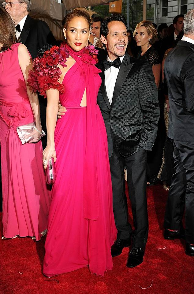 "Jennifer Lopez and her husband Marc Anthony glammed it up in Gucci! Larry Busacca/<a href=""http://www.gettyimages.com/"" target=""new"">GettyImages.com</a> - May 2, 2011"