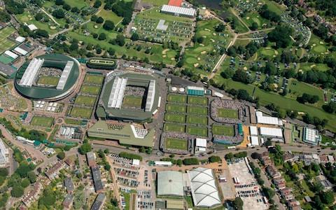 <span>An aerial view of the All England Lawn Tennis Club</span> <span>Credit: Getty Images </span>