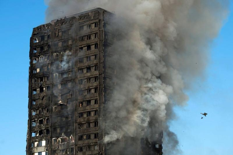 The entire building is engulfed in flames. Photo: AAP