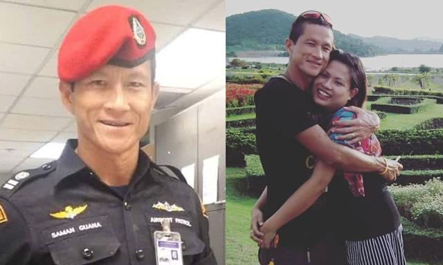 <span>Saman Gunan</span> lost his life in rescue efforts, and his widow shares how she is mourning his death via Instagram. (Photo: Twitter/Facebook)