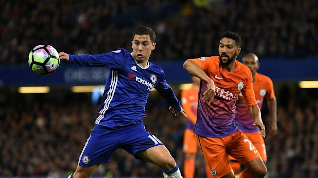 First-half goals from Eden Hazard gave Chelsea a 2-1 win over Manchester City that the Belgium star felt moved them towards the title.