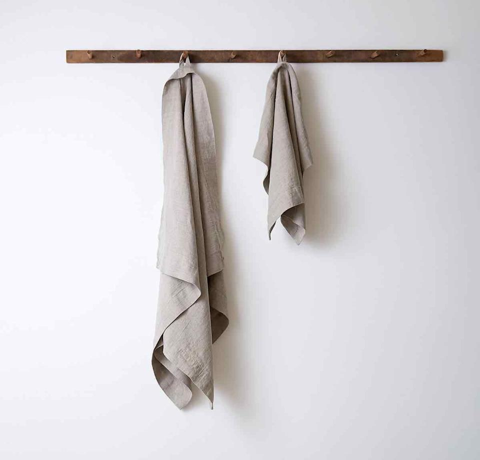 """<p>roughlinen.com</p><p><strong>$75.00</strong></p><p><a href=""""https://www.roughlinen.com/collections/linen-bath-sheets-towels/products/orkney-linen-bath-towel"""" rel=""""nofollow noopener"""" target=""""_blank"""" data-ylk=""""slk:SHOP NOW"""" class=""""link rapid-noclick-resp"""">SHOP NOW</a></p><p>These linen towels are a great choice for anyone looking for soothing spa-like experience. Though linen isn't as soft as other materials, like cotton, it will get softer with every wash. And because the fabric is naturally antimicrobial and one of the fastest to dry, your towels will never smell musty. </p>"""