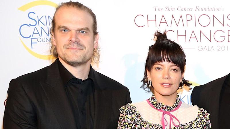 David Harbour and Lily Allen are taking their romance more public.
