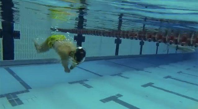 Ahmed Kelly in training for the Paralympics. Source: 7News