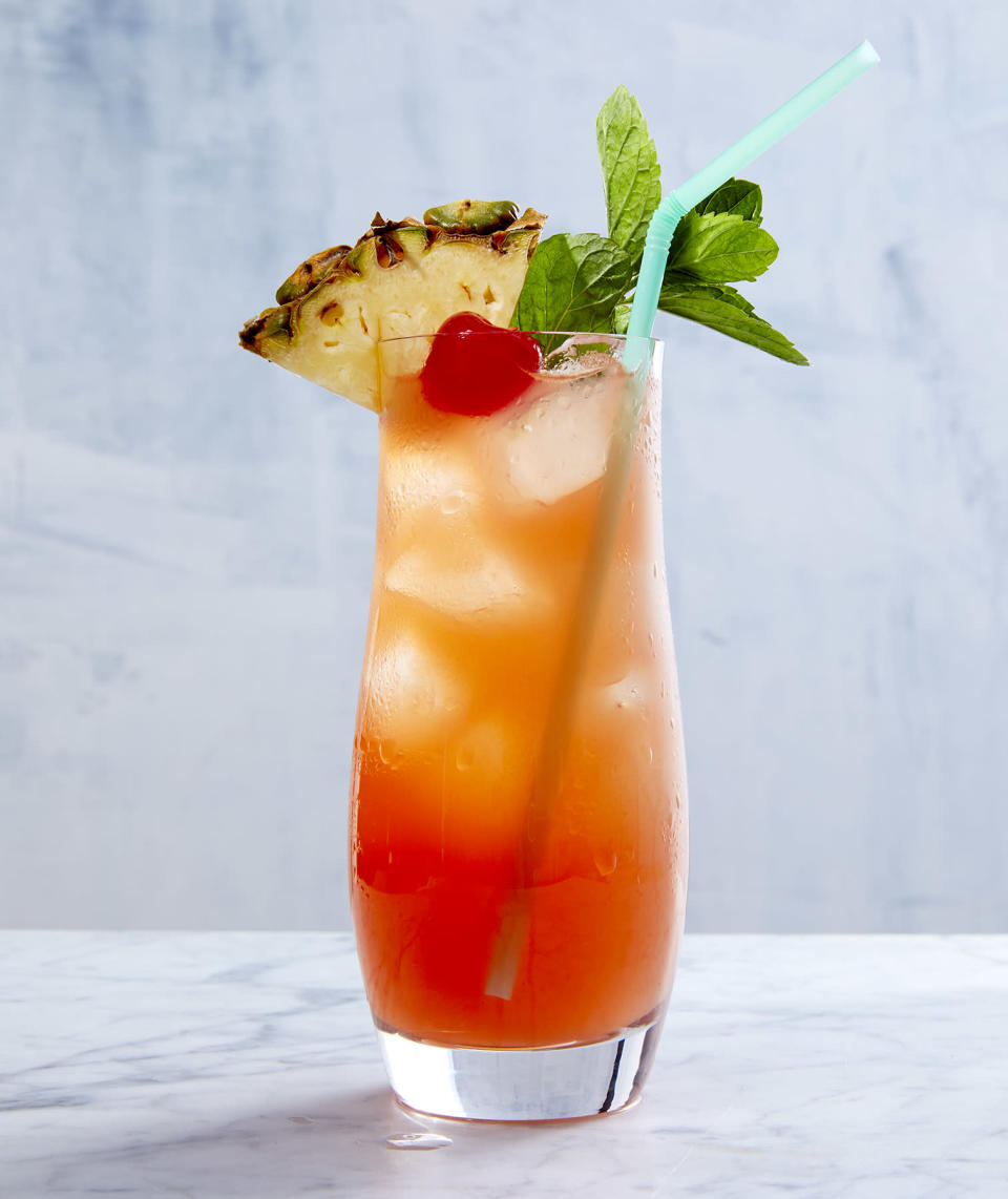 <p>Almond syrup and pineapple juice add some intriguing flavor undertones to this rum-based tropical cocktail. (Don't forget to add a slice of pineapple to garnish!)</p>