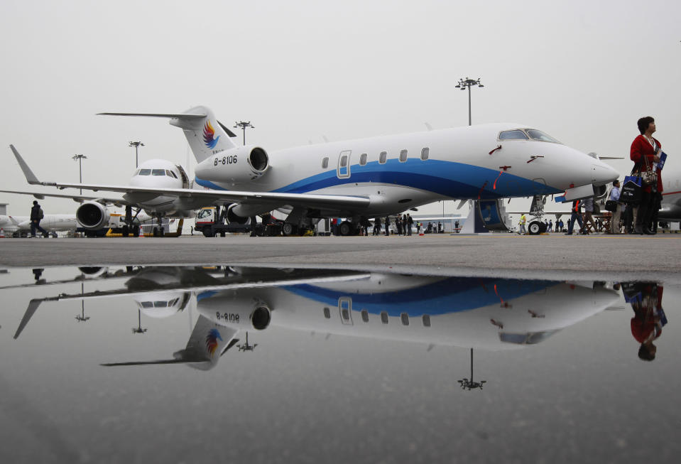 Private jets could have a moment, if the history of luxury cars and private jets have anything to say about it. Source: AP