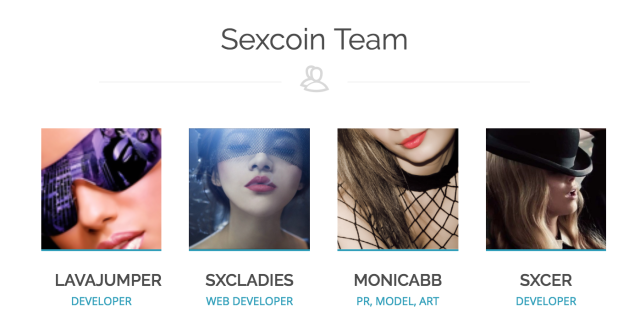 Sexcoin executive team, from its website. (Sexcoin.info)