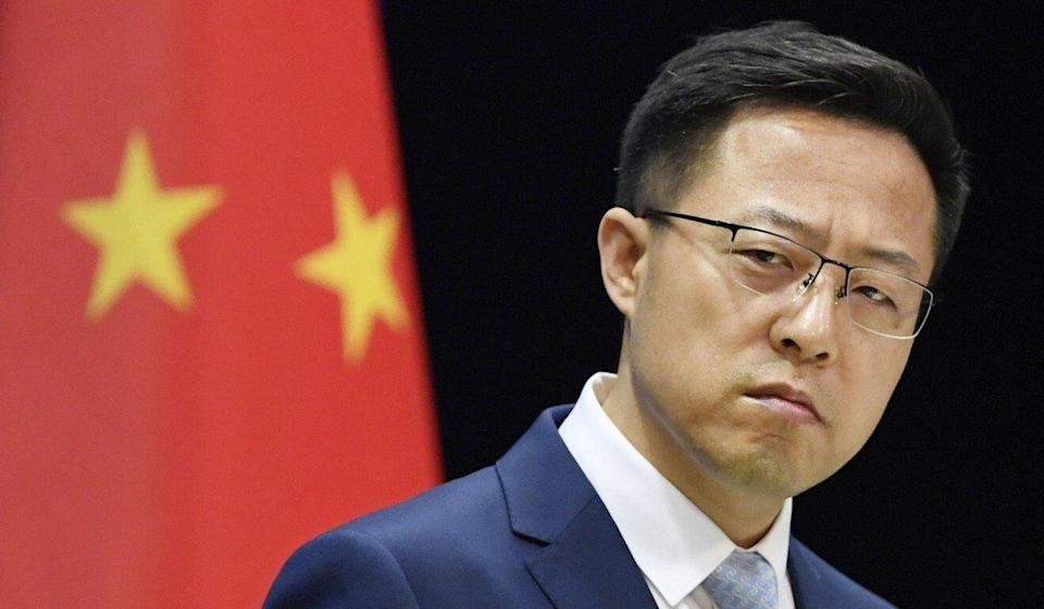 Foreign ministry spokesman Zhao Lijian suggested a biomedical research lab at the Fort Detrick military base be investigated. Photo: Kyodo
