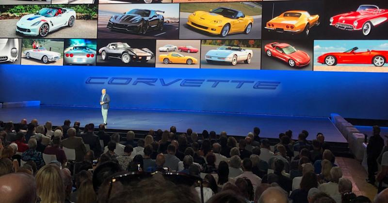 Chevrolet unveils its new 2020 C8 Corvette Stingray in Tustin, California, on Thursday July 18, 2019.
