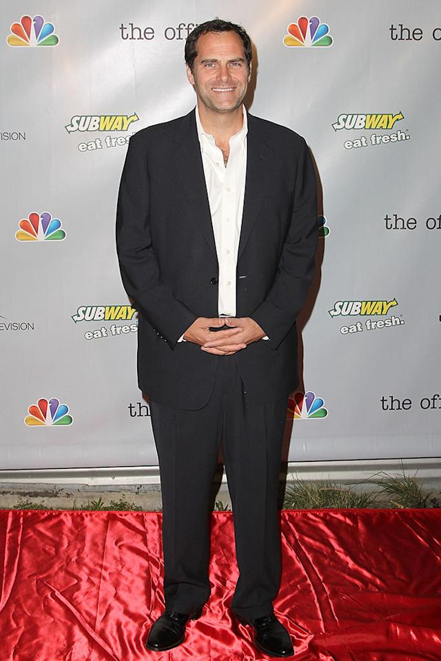 "Andy Buckley arrives at ""The Office"" series finale wrap party at Unici Casa Gallery on March 16, 2013 in Culver City, California."