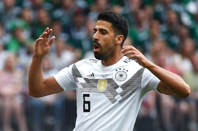 Germany midfielder Sami Khedira came under fire for his performance against Mexico (AFP Photo/Kirill KUDRYAVTSEV)