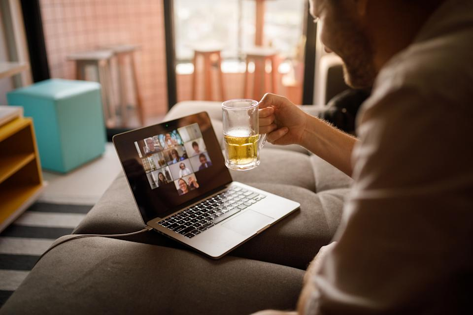 Lockdown forced friends to swap meeting in the pub to meeting via google hangout. (Getty Images)