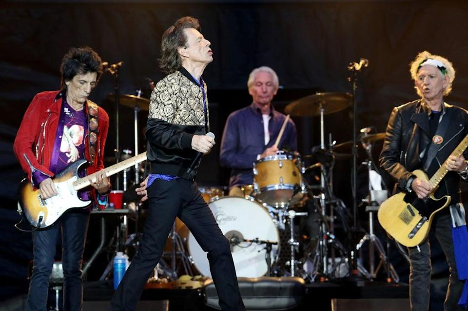 Charlie Watts with The Rolling Stones during a gig at Murrayfield Stadium in Edinburgh (Jane Barlow/PA) (PA Archive)
