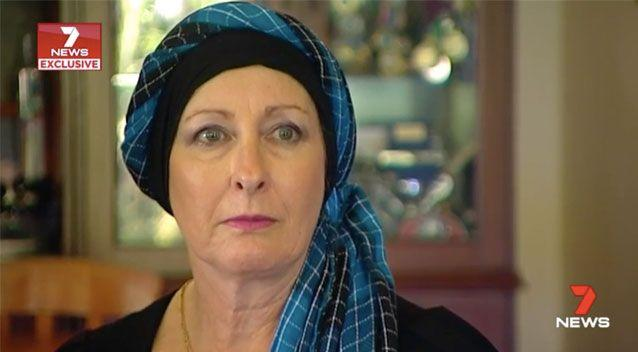 Kathryn has had to return to work despite having cancer. Source: 7News