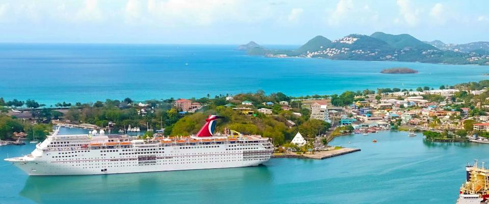 Carnival Cruise Ship Fascination at dock in St. Lucia