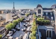 """<p>Exquisitely Parisian, this five-star hotel is where the staff wear impeccably kept uniforms and ensure the place shines, like its view of Paris' glittering skyline, which you can enjoy from the private rooftop gardens. </p><p>Thanks to <a href=""""https://www.booking.com/hotel/fr/the-peninsula-paris.en-gb.html?aid=1922306&label=paris-hotels"""" rel=""""nofollow noopener"""" target=""""_blank"""" data-ylk=""""slk:The Peninsula Paris"""" class=""""link rapid-noclick-resp"""">The Peninsula Paris</a>' fabulous location, some of the world's most famous monuments can be reached on foot or, courtesy of the hotel, with a ride along the iconic boulevards in a Peninsula Edition car from Mini or BMW. This is Parisian style at its finest.</p><p><a class=""""link rapid-noclick-resp"""" href=""""https://www.booking.com/hotel/fr/the-peninsula-paris.en-gb.html?aid=1922306&label=paris-hotels"""" rel=""""nofollow noopener"""" target=""""_blank"""" data-ylk=""""slk:CHECK AVAILABILITY"""">CHECK AVAILABILITY</a></p>"""