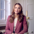 """<p>Kate rewore the blazer from her pink Marks & Spencer trouser suit for a campaign video focusing on The Royal Foundation's Forum on Early Years, shared on Kensington Palace's Instagram. Click <a href=""""https://www.instagram.com/p/CILFGcJlEsP/"""" rel=""""nofollow noopener"""" target=""""_blank"""" data-ylk=""""slk:here"""" class=""""link rapid-noclick-resp"""">here</a> to see the video in full.</p>"""