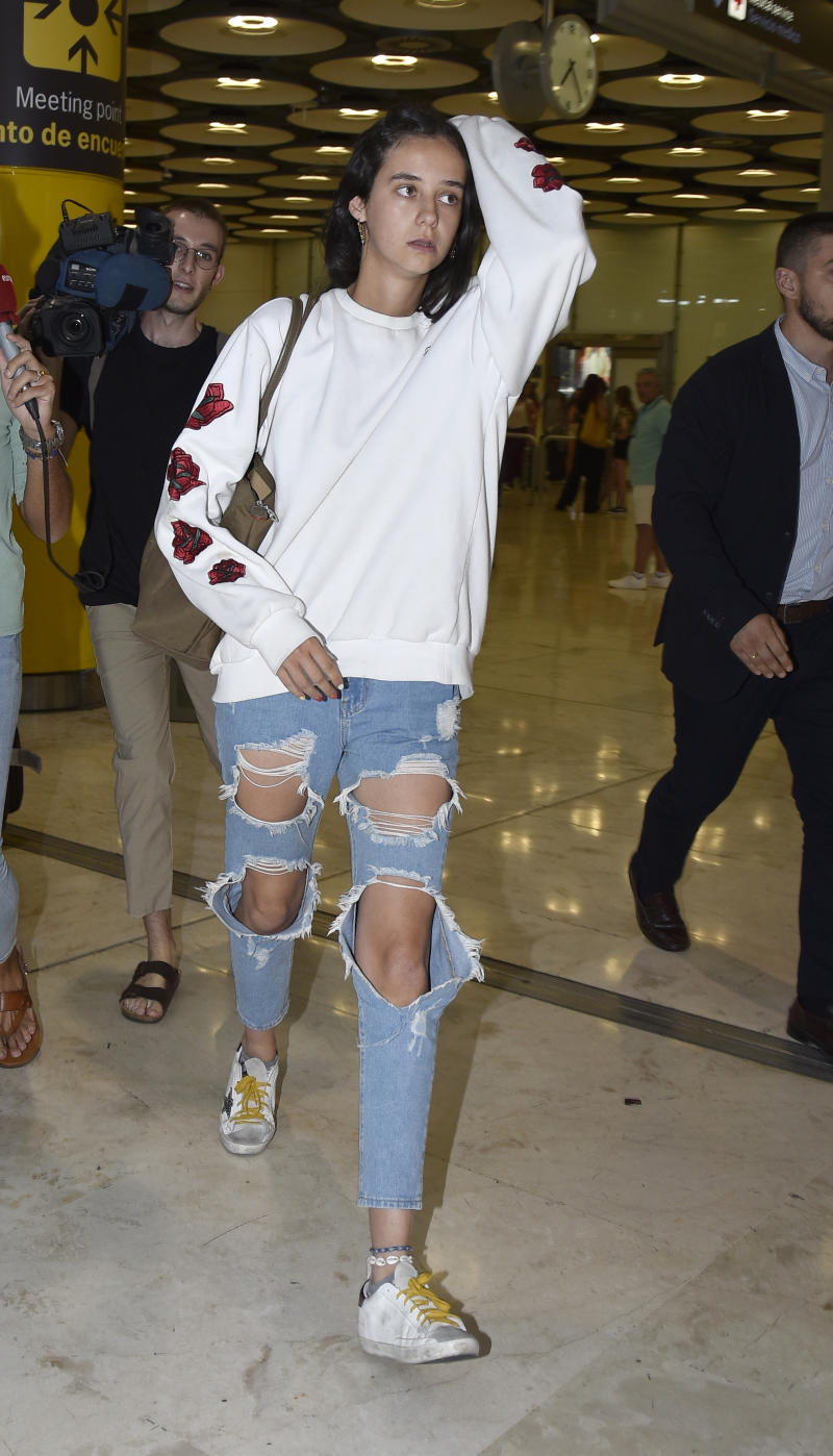 MADRID, SPAIN - JULY 26: Victoria Federica is seen at Adolfo Suárez Barajas Airport on July 26, 2019 in Madrid, Spain. (Photo by Europa Press Entertainment/Europa Press via Getty Images)