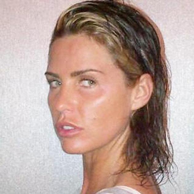 """Celebrity photos: Katie Price shocked us all with this Twitpic of her without a scrap of makeup or any hair extensions. She explained to followers: """"all extensions out no make miss Natural! I'd like to see more people like this!the new me x"""" [sic] However, two days later she had a new head of hair extensions attached."""