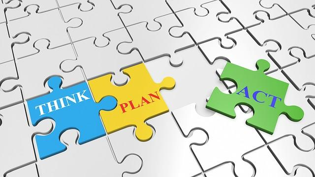think, plan, and act to work towards your financial goals