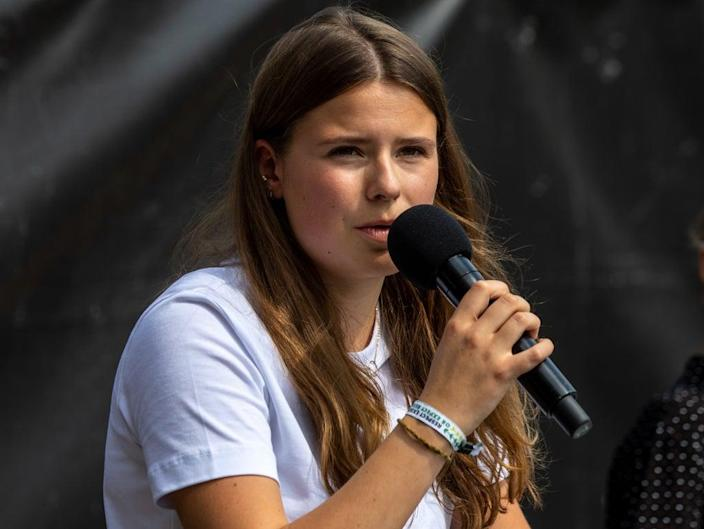 Luisa Neubauer, who aims to put pressure on the German government this week (Getty Images)