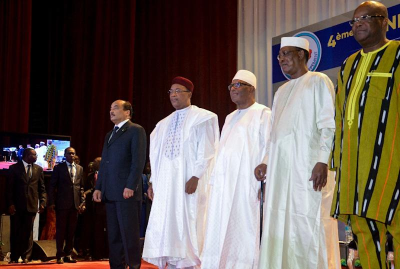 """The EU funding boost comes as Burkina Faso, Chad, Mali, Mauritania and Niger, whose leaders attended a February 6 G5 Sahel summit in Niger, strive to tackle what one EU official warned is a """"deteriorating security situation"""" in the jihadist-plagued region"""
