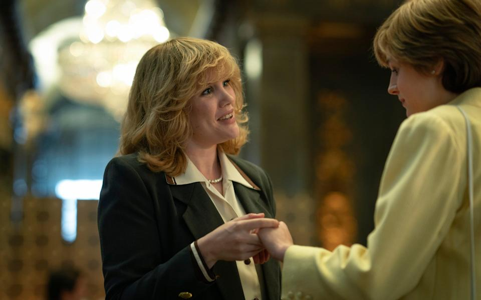 Emerald Fennell as Camilla Parker Bowles and Emma Corrin as Princess Diana in The Crown - Des Willie/Netflix