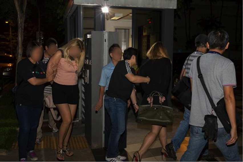 The four women, including three Russians and an Uzbek, were arrested in simultaneous operations on Thursday (May 6). (Photo: SPF)