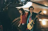 <p>Mick Jagger and Keith Richards take an encore, circa 1990.</p>