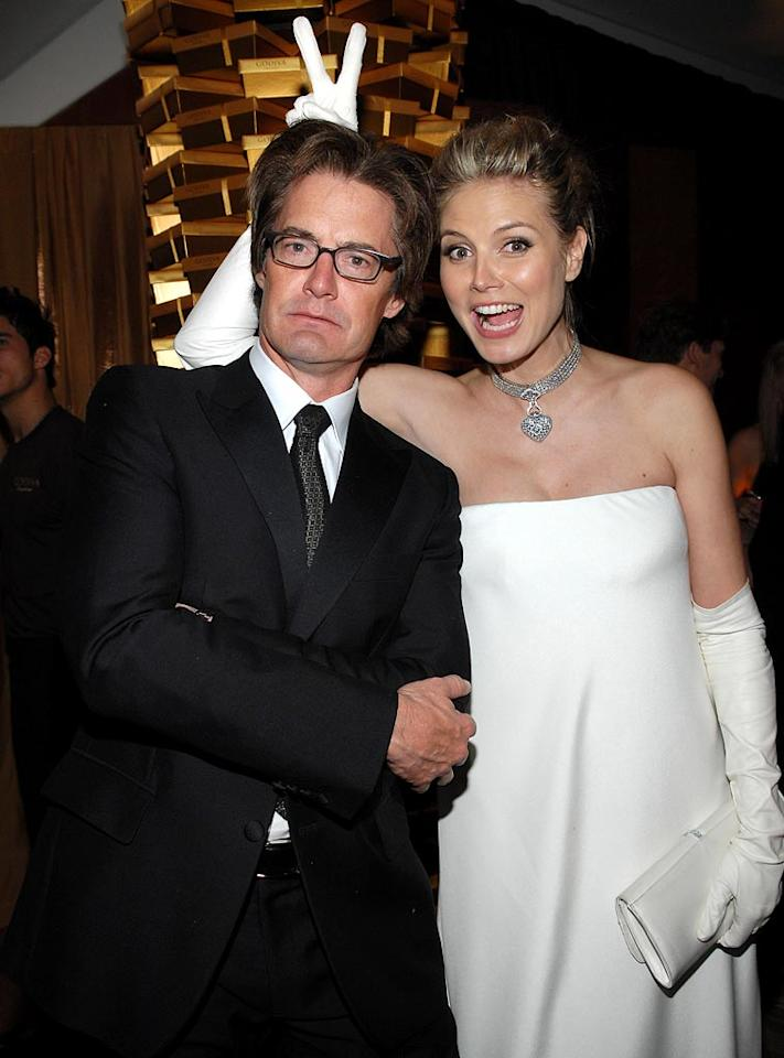 """<a href=""""/kyle-maclachlan/contributor/31076"""">Kyle MacLachlan</a> and <a href=""""/heidi-klum/contributor/53071"""">Heidi Klum</a> at the In Style and Warner Bros. 2007 Golden Globe After Party."""