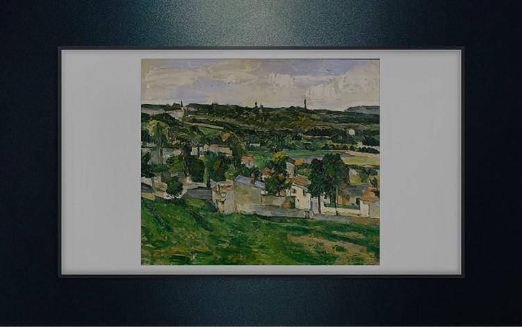 'View of Auvers-sur-Oise' by Paul Cézanne is one of the artworks featured in Samsung's virtual exhibition, 'Missing Masterpieces.'