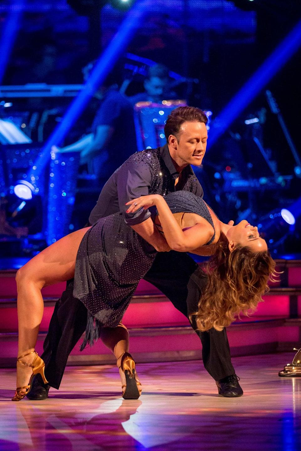 Redknapp on Strictly with dance partner Kevin Clifton (BBC)