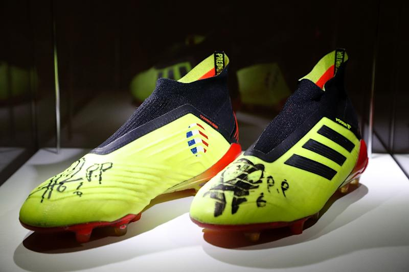 10a150933dc The football boots worn by midfielder Paul Pogba during France  39 s World  Cup