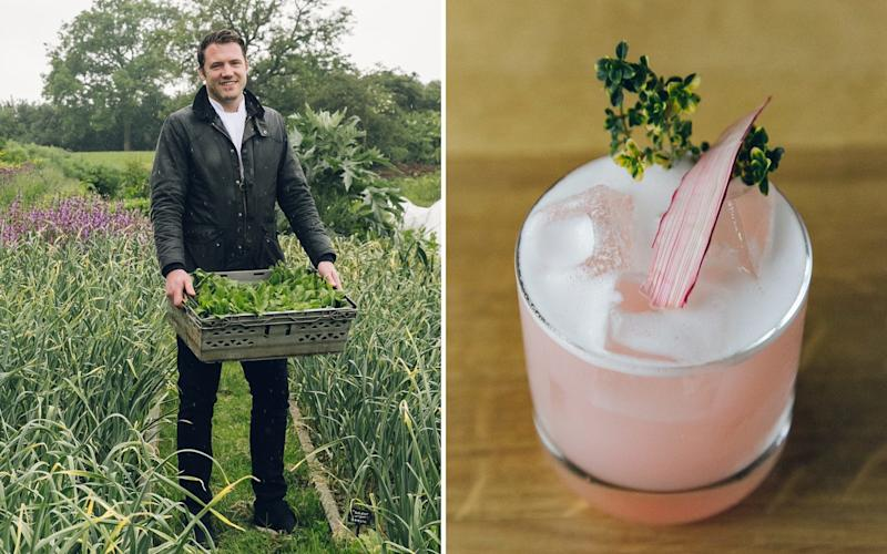 The good life: The menu at the Michelin-starred Black Swan in Yorkshire - including the creative cocktail list - is dictated by what is grown in its garden (providing the pigeons don't get to it first) - India Hobson