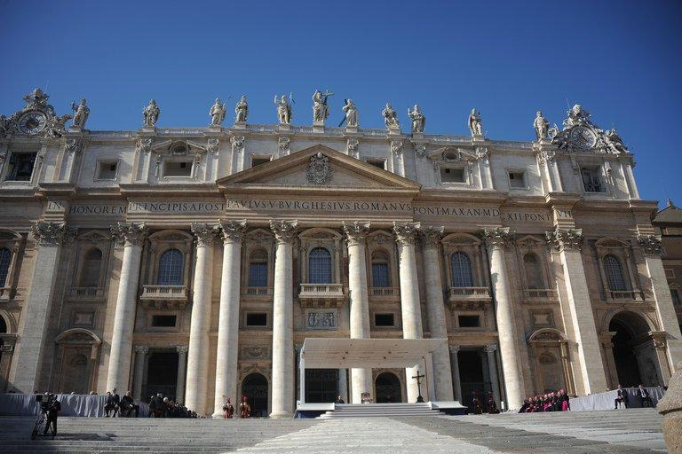 A view of St Peter's Basilica at St Peter's square in the Vatican on November 9, 2011