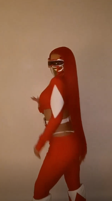 Kylie Jenner dialled up the heat as a sexy Power Ranger for Halloween 2020. Photo: Instagram/kyliejenner.