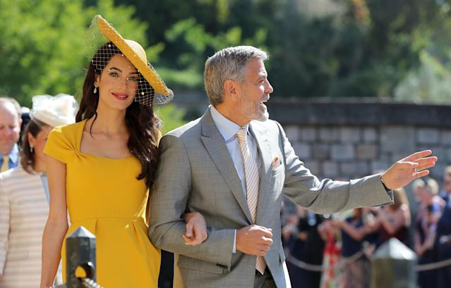 There's rumours Amal and George Clooney may be attending their second royal wedding due to a business partnership [Photo: Getty]