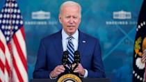 PHOTO: President Joe Biden delivers remarks on COVID-19 during an event in the South Court Auditorium on the White House campus, Sept. 27, 2021, in Washington. (Evan Vucci/AP)