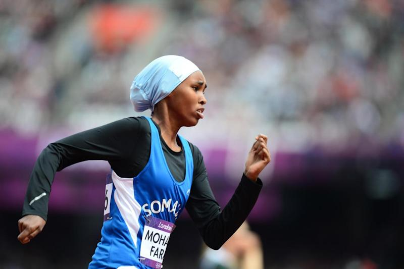 Zamzam Farah ran the 400m during the 2012 London Olympics. (AFP/Getty Images)