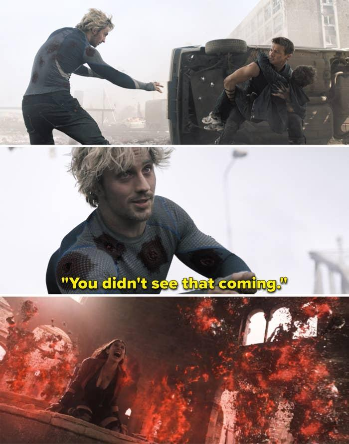 """Pietro saying, """"You didn't see that coming"""""""