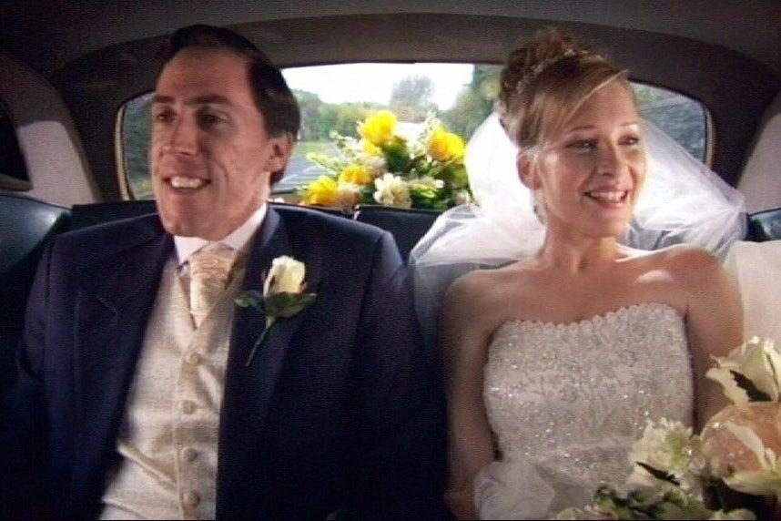 Rob Brydon and Joanna Page as Stacey (Baby Cow)